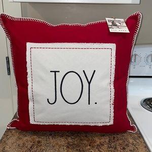 New Rae Dunn Red Joy Throw Pillow